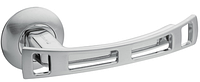 Дверная ручка на раздельной розе 05 Premier H-0598-S/CR хром сатин Apecs