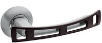 Дверная ручка на раздельной розе 05 Premier H-0598-S/BW сатин/черное дерево Apecs