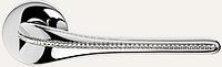 Дверная ручка на раздельной 023 розе Spirit хром (камни Сваровски) LineaCali