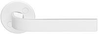 Дверная ручка на раздельной розе Enter 10/001 белый лак Abloy