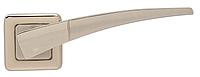 Дверная ручка на раздельной розе Comet NSNL/NLNS матовый никель Mariani
