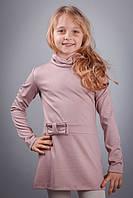 """Детское трикотажное платье для девочки """" Гольф"""" с заниженой талией"""