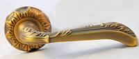Дверная ручка на раздельной розе Karina Z430 85 85 матовый кофе Siba