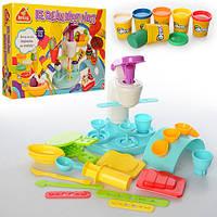Тесто для лепки 3817 кондитерская, 6 цветов (баночки с крышкой), ароматизированное, аппарат-пресс, формочки