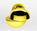 Дверная ручка на раздельной розе Etro OL/OM золото полированное/золото матовое Colombo