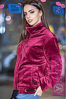 "Куртка бомбер из бархата весна 2017 на силиконе 60 три цвета ""Лилу"" GY71"