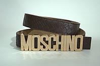Ремень женский кожа Moschino коричневый