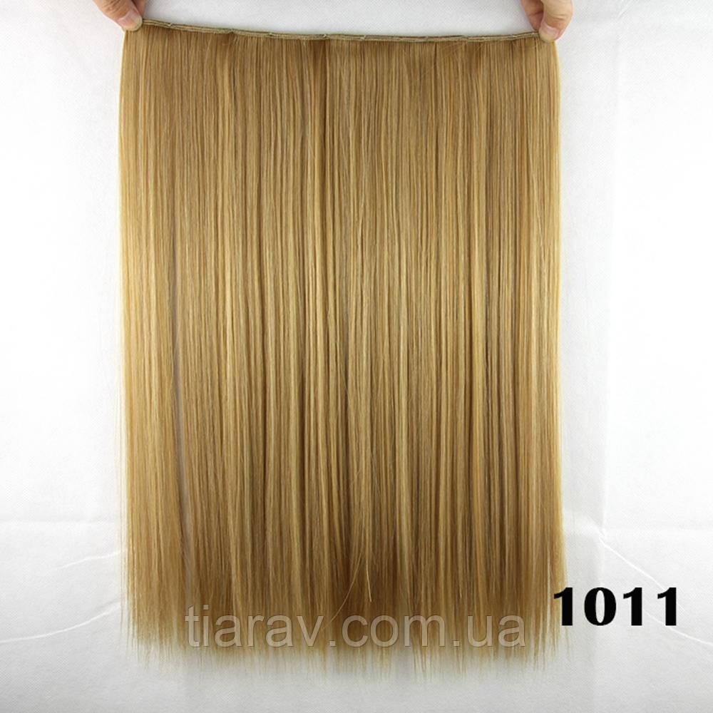 Волосы на заколках  45 см тресс накладная волосы ТЕРМОСТОЙКИЕ на заколке прямые пепельно-русые на заколках
