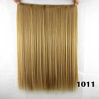 Волосы на заколках  45 см тресс накладная волосы ТЕРМОСТОЙКИЕ на заколке прямые пепельно-русые на клирах тресс