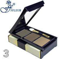 Ffleur - Тени-корректор для бровей и век Trio Eyebrow EB-06 Тон 03 дымчатые бежевые