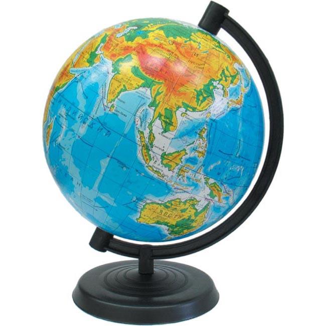 Глобус физический 160 мм на украинском языке.