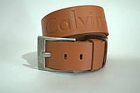 Ремень мужской кожа Calvin Klein светло-коричневый
