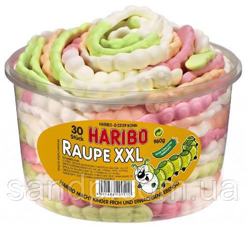 Желейные конфеты Гусеницы РАУПЫ XXL Харибо Haribo  960гр.30шт, фото 2