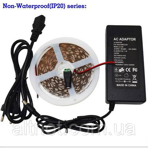 LED Фитолента - 500см., 300 светодиодов, с блоком питания 12В/5А.