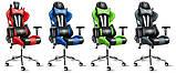 Ігрове крісло DIABLO X-EYE чорно - синє, фото 8