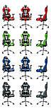 Ігрове крісло DIABLO X-EYE чорно - синє, фото 9