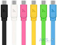 Кабель USB Hoco X5 Bamboo micro USB 1M Black
