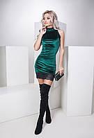 Красивое бархатное мини-платье