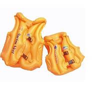 Жилет надувной оранжевый, BT-IG-0006