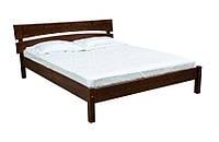 Двуспальная деревянная кровать в кантри стиле, производства фабрики Скиф. Модель Л-214