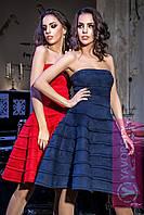 """Платье из замши миди с пышной юбкой нарядное разные цвета """"Парадиз"""" SMY1103"""