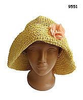 Шляпа для девочки. 53-56 см