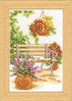 """Набор для вышивки крестом  Vervaco """"Садовая скамейка"""""""