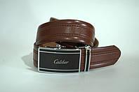 Ремень мужской кожа Caliber коричневого цвета