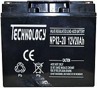 Аккумулятор мультигелевый TECHNOLOGY NP12-20Ah 12V 20AH, фото 1