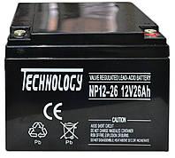 Аккумулятор мультигелевый TECHNOLOGY NP12-26Ah 12V 26AH, фото 1