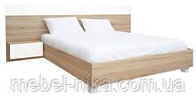"""""""Соната"""" Кровать 160 с каркасом глянец белый-дуб сонома"""