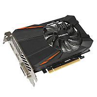 Видеокарта GeForce GTX1050, Gigabyte, 2Gb DDR5, 128-bit, DVI/HDMI/DP, 1493/7008 MHz (GV-N1050D5-2GD)