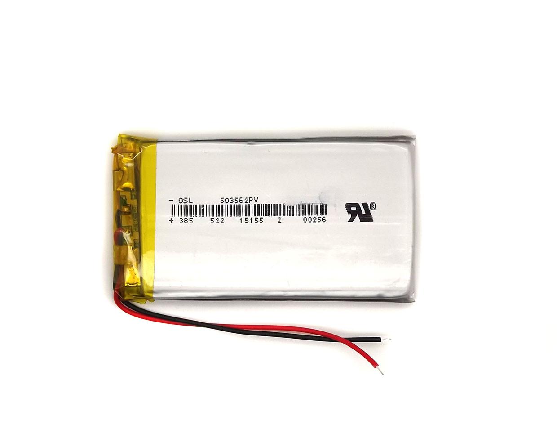Аккумулятор 1500mAh 3.7v 503565 3,7в универсальный к китайским тел., GPS-навигаторов 1500mAh 3.7v 5*35*65 мм