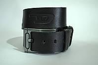 Ремень мужской кожа Diesel черного цвета