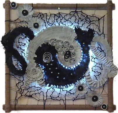 "Декоративное панно картина светильник на стену ""Кош Ань"", фото 2"