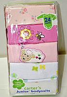 Набор бодиков Carters для девочек с длинным рукавом, возраст 24 месяца.