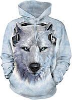 3D-толстовка THE MOUNTAIN-WHITE WOLF DJ (унисекс)