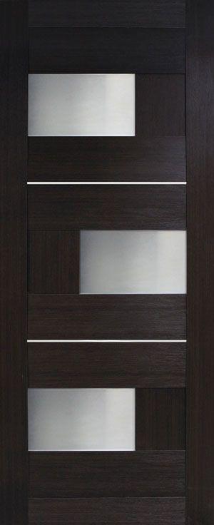 """Межкомнатные двери """"Куб ПВХ (стекло сатин)"""""""