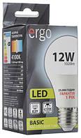 Светодиодная лампа ERGO, 12W, 4100K, нейтрального свечения, цоколь - Е27, 1 год гарантии!