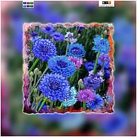 """Схема для вышивки бисером """"Цветы"""", на холсте 27х27 см"""