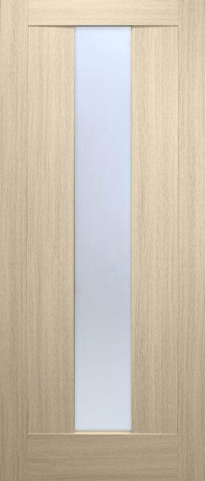 """Межкомнатные двери """"Троя ПВХ (стекло сатин)"""""""