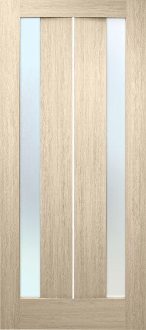 """Межкомнатные двери """"Стелла ПВХ (стекло сатин)"""""""