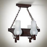 Люстра деревянная, 4-х ламповая  14804-1
