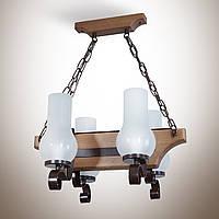 Люстра деревянная, 4-х ламповая  14804