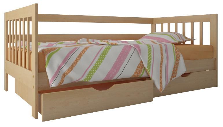 "Ліжко ""Медея"" з ящиками (масив бука)"