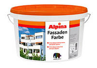Краска фасадная Белая Alpina EXPERT Fassadenweiß, B3, 9,4 л.