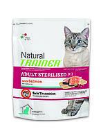 Trainer Natural Adult Sterilised Salmon корм для стерилизованных кошек с лососем, 7.5 кг, фото 1