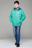 Куртка с контрастной молнией и капюшоном