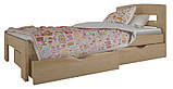 """Односпальне ліжко """"Ірис міні"""" з ящиками (масив бука), фото 9"""