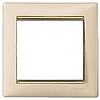 Рамка 1 пост слоновая кость/золотой штрих Legrand Valena 774151